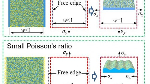 Giant Poisson's effect for wrinkle-free flexible electronics